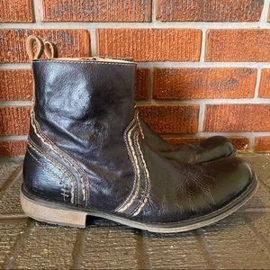 Bed Stu Revolution Black Rustic Boots